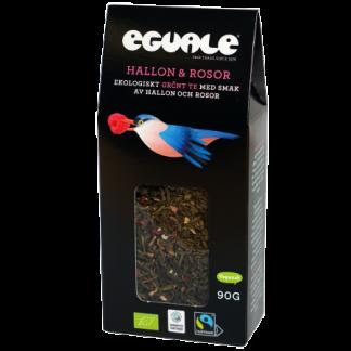 Eguale Hallon & rosor, ekologiskt och Fairtrade-märkt grönt löste 90g