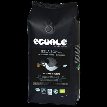 Eguale Inca Dark Blend hela bönor - Fairtrade-märkt och ekologiskt kaffe