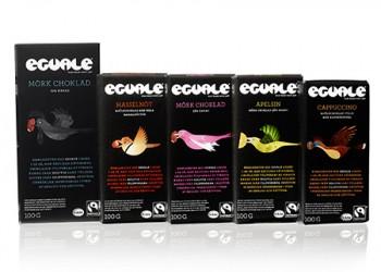 Eguale Fairtrade-märkt och ekologisk choklad