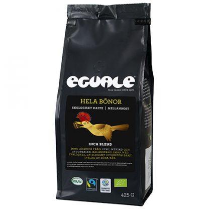 Eguale Inca Blend, mellanrostat bryggkaffe hela bönor - Fairtrade och ekologiskt