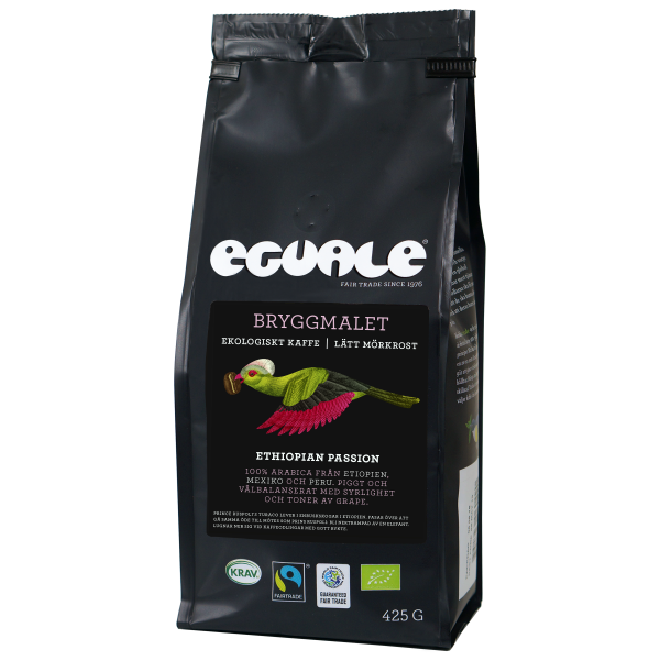 Eguale Bryggmalet, Ethiopian Passion, Fairtrade och ekologiskt kaffe