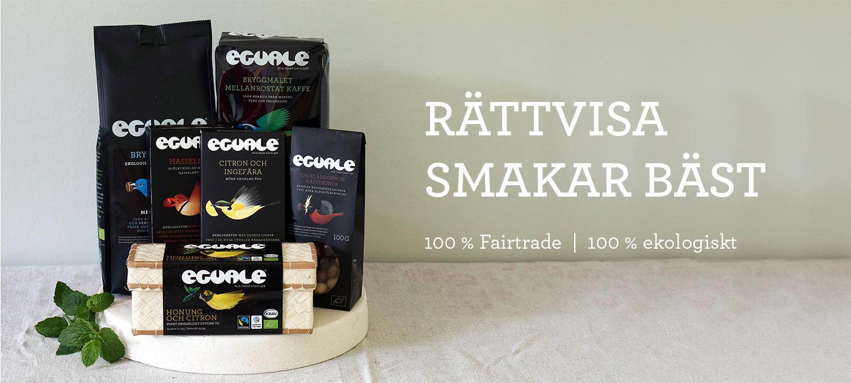 Eguale- 100 % Fairtrade-märkt och ekologiskt kaffe, te och choklad
