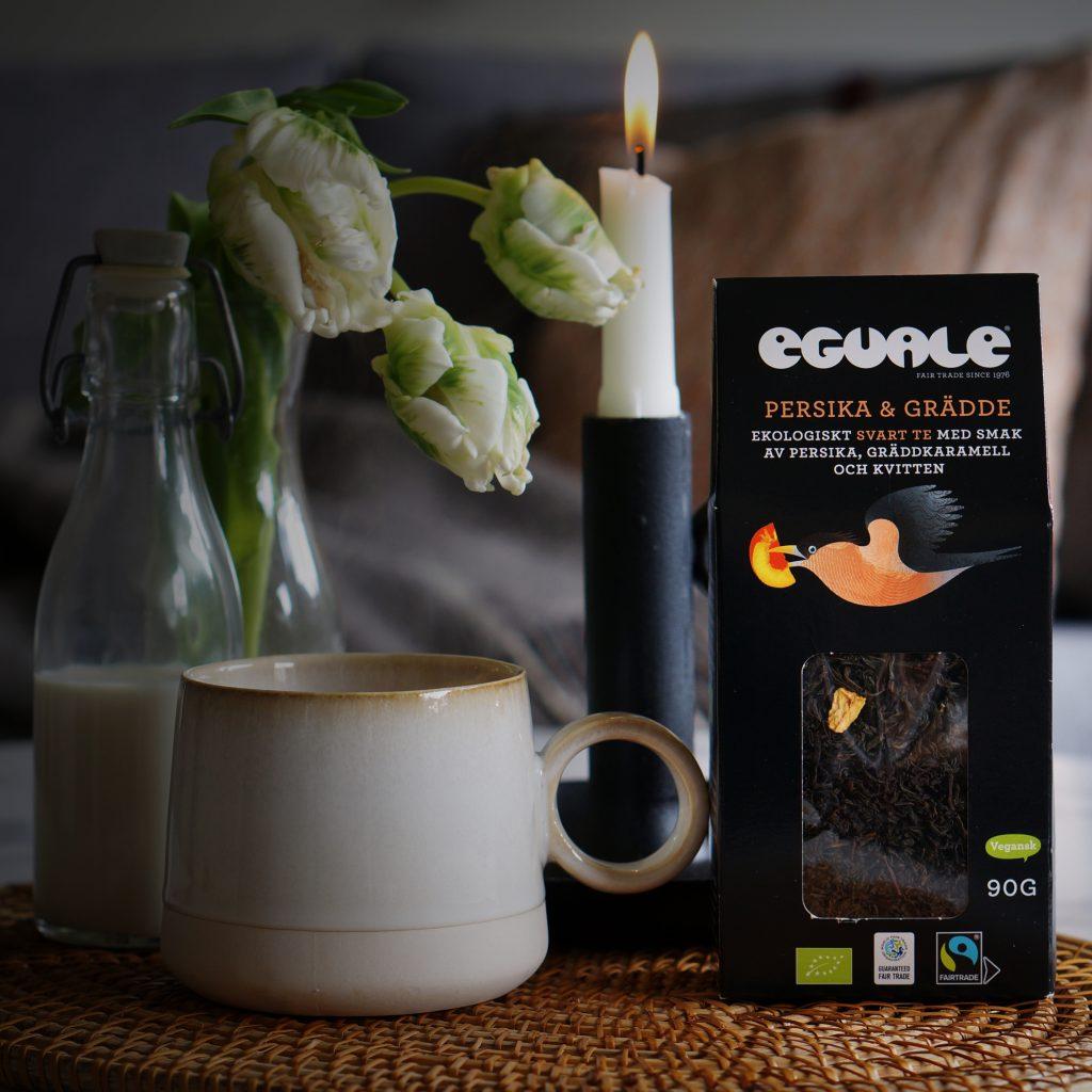 Eguale Persika & grädde lös-te 90g - Fairtrade-märkt och ekologiskt te