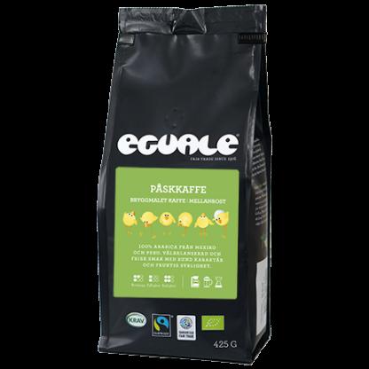 Eguale påskkaffe, fairtrade-märkt och ekologiskt kaffe
